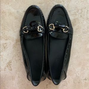 Gucci Patent Leather Horse-bit Driving Loafers
